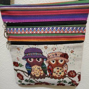 Cross-Stitch Rainbow Owl Purse with Wallet